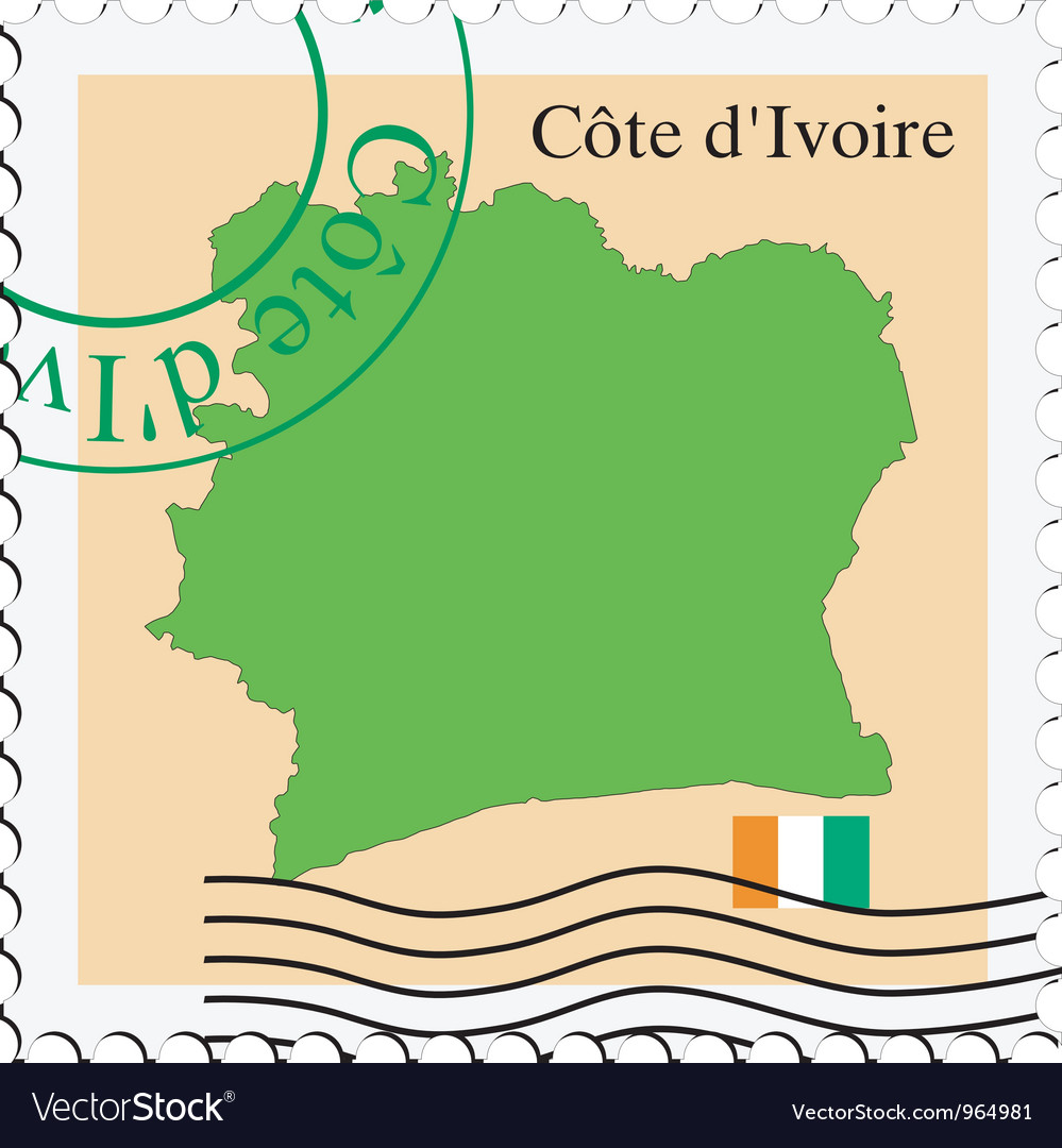 Mail to-from cote divoire vector | Price: 1 Credit (USD $1)