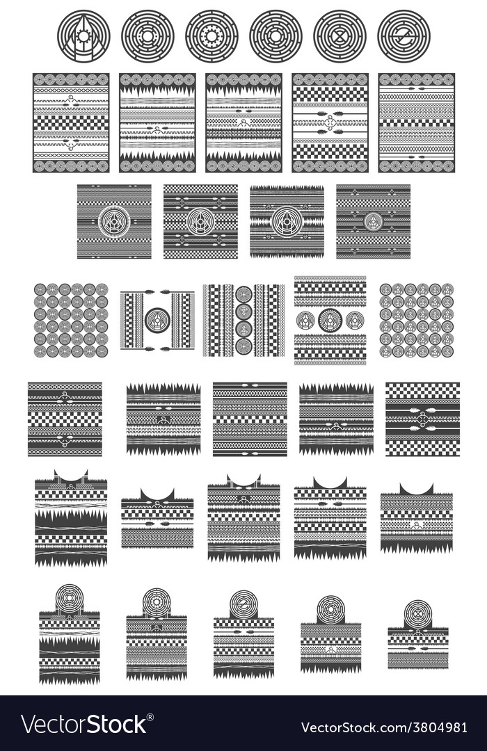 Native american art collection vector | Price: 1 Credit (USD $1)