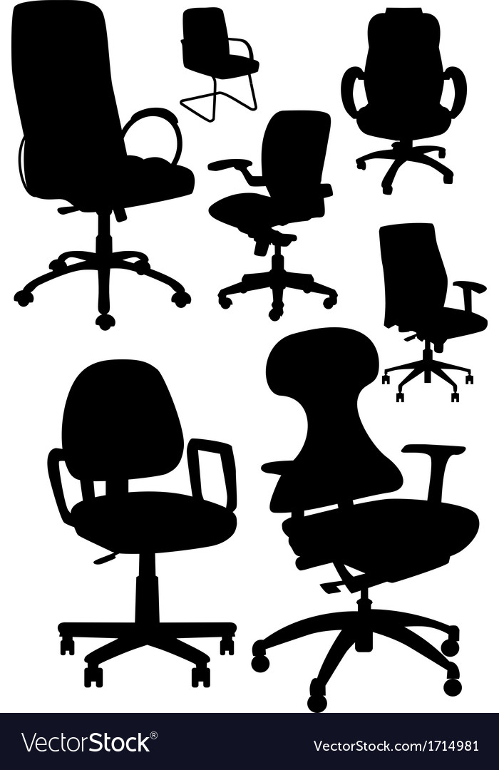 Office chair silhouetts vector | Price: 1 Credit (USD $1)
