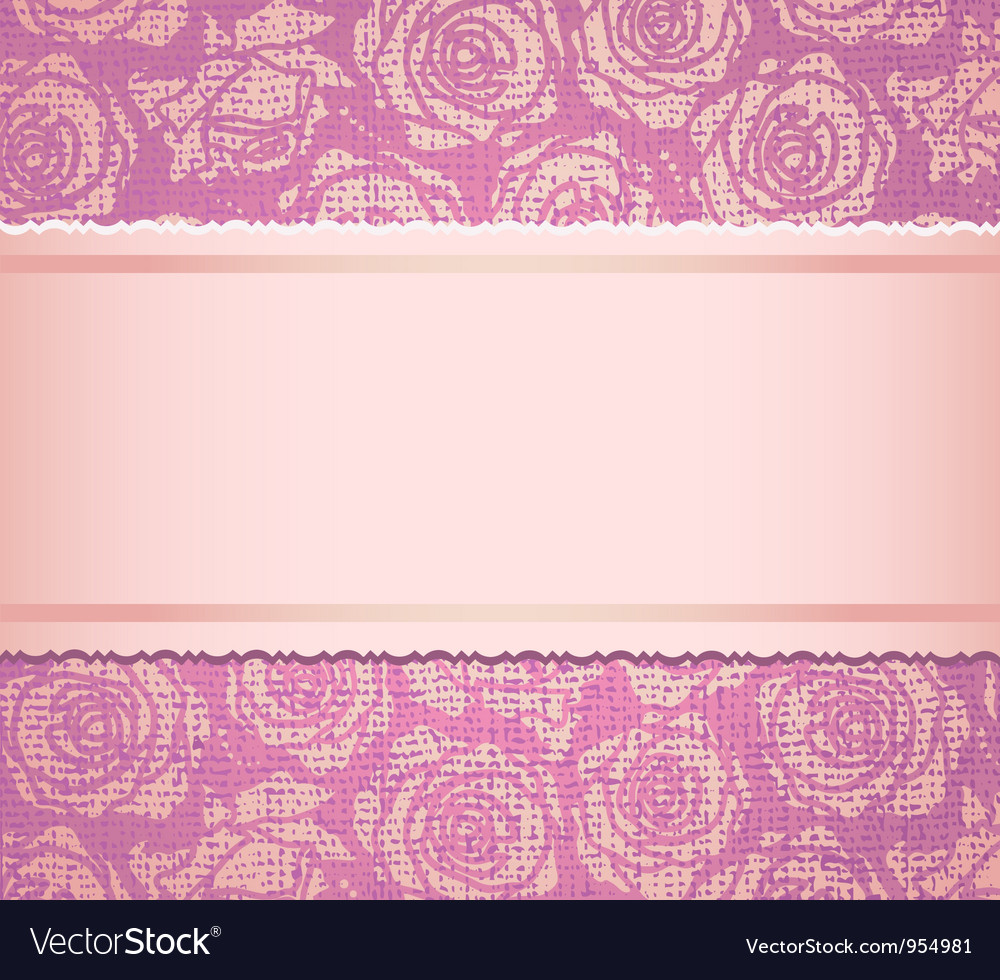 Pink invitation card vector | Price: 1 Credit (USD $1)