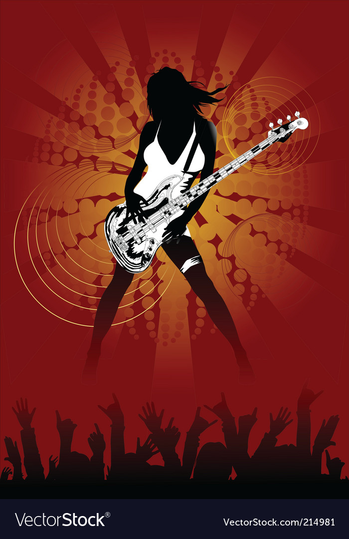 Sexy rock chick vector | Price: 1 Credit (USD $1)
