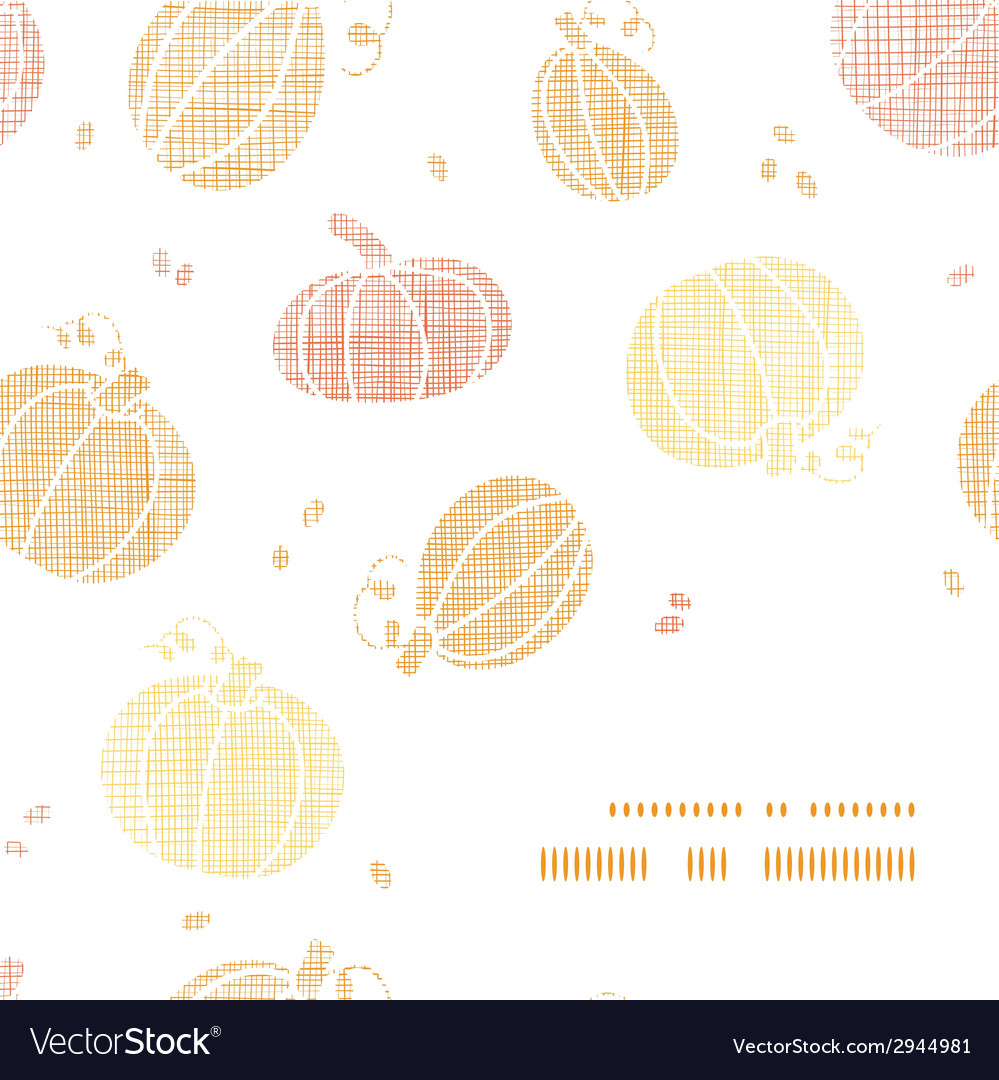 Thanksgiving pumpkins textile frame corner pattern vector | Price: 1 Credit (USD $1)