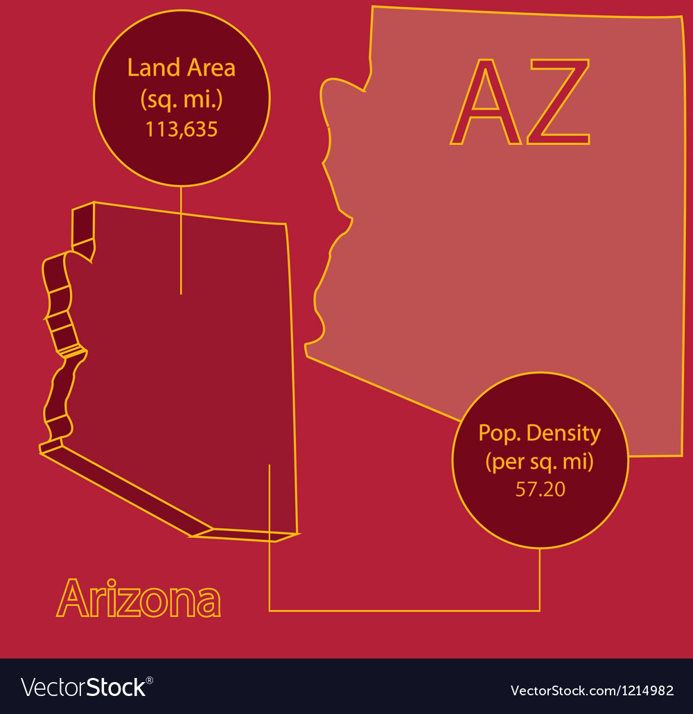 Arizona 3d info graphic vector | Price: 1 Credit (USD $1)