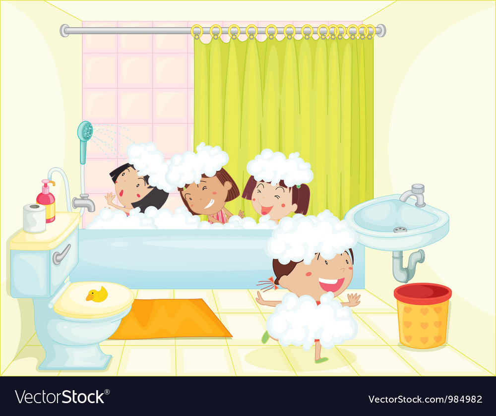 Bath time vector | Price: 1 Credit (USD $1)