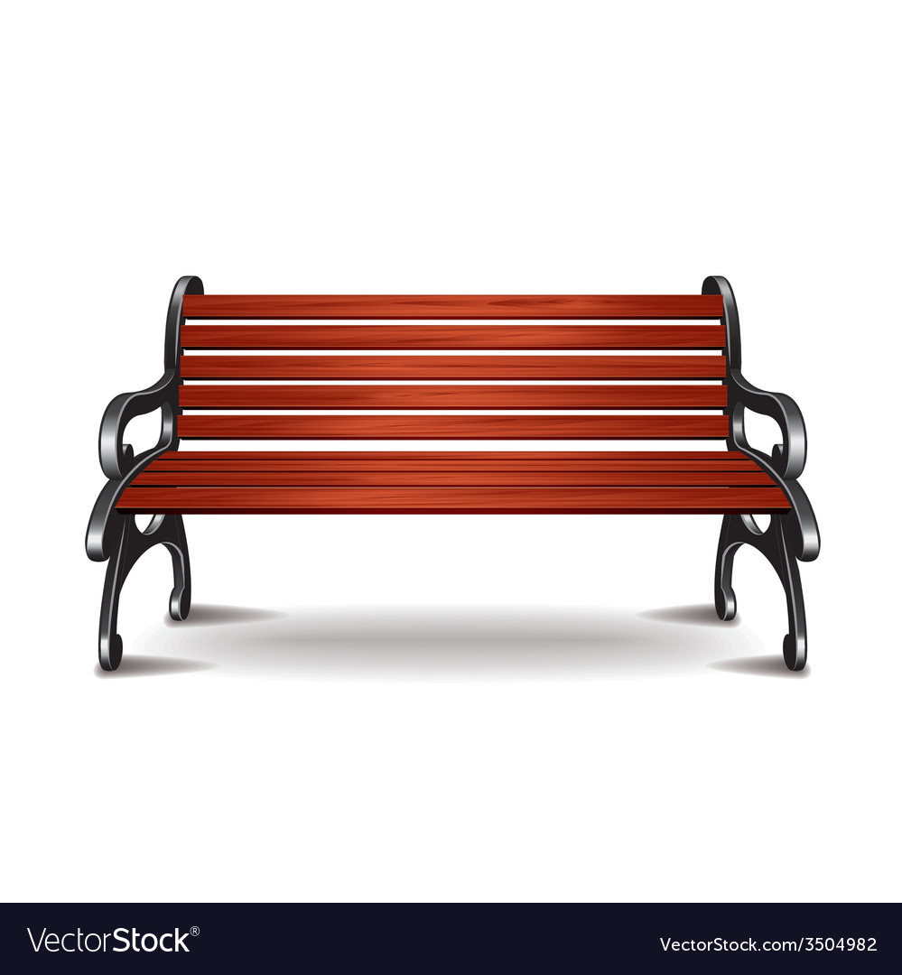 Bench isolated vector | Price: 1 Credit (USD $1)