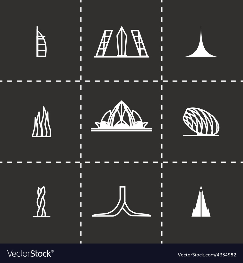 Buildings icon set vector   Price: 1 Credit (USD $1)