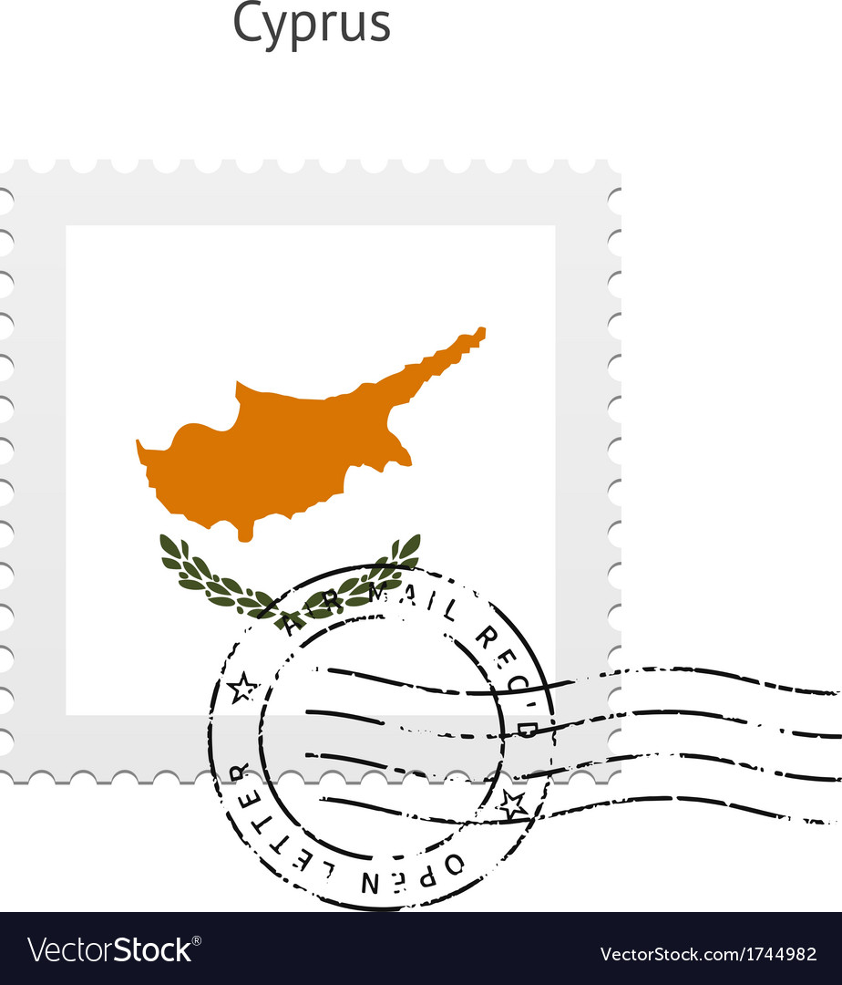 Cyprus flag postage stamp vector | Price: 1 Credit (USD $1)