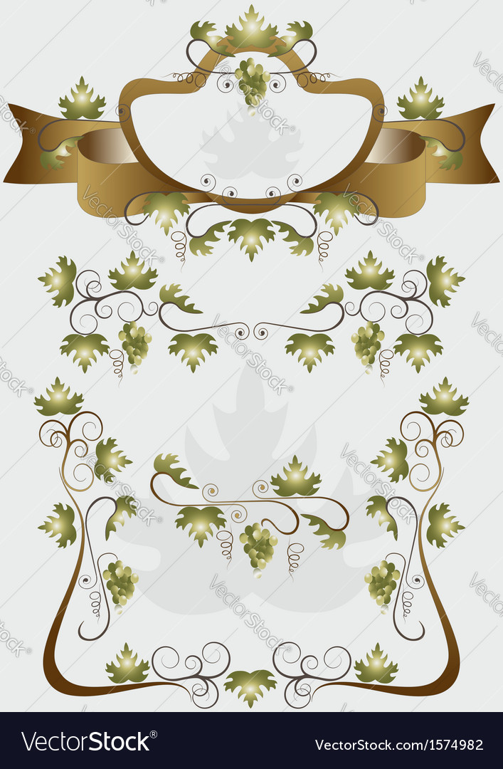 Details for decoration design products of grapes vector | Price: 1 Credit (USD $1)