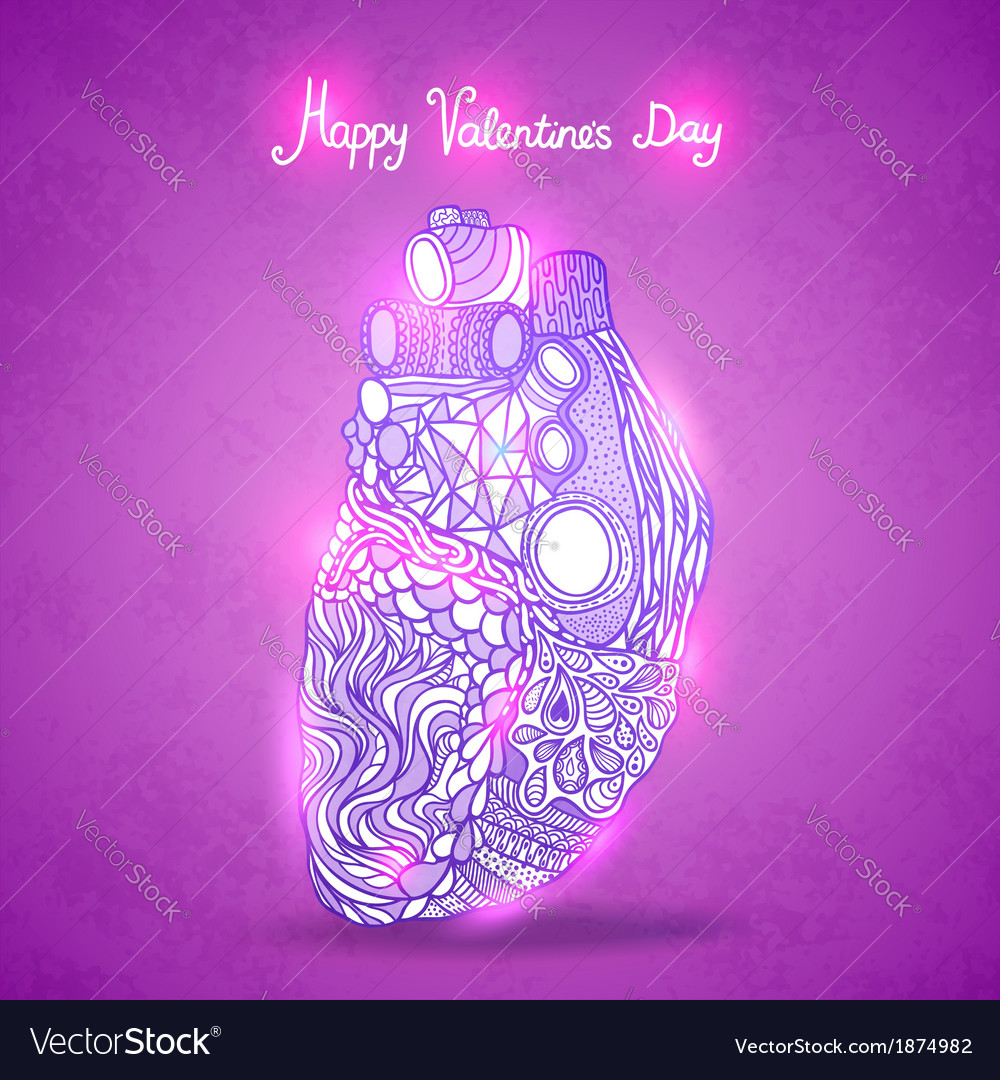 Doodle heart valentines day vector | Price: 1 Credit (USD $1)
