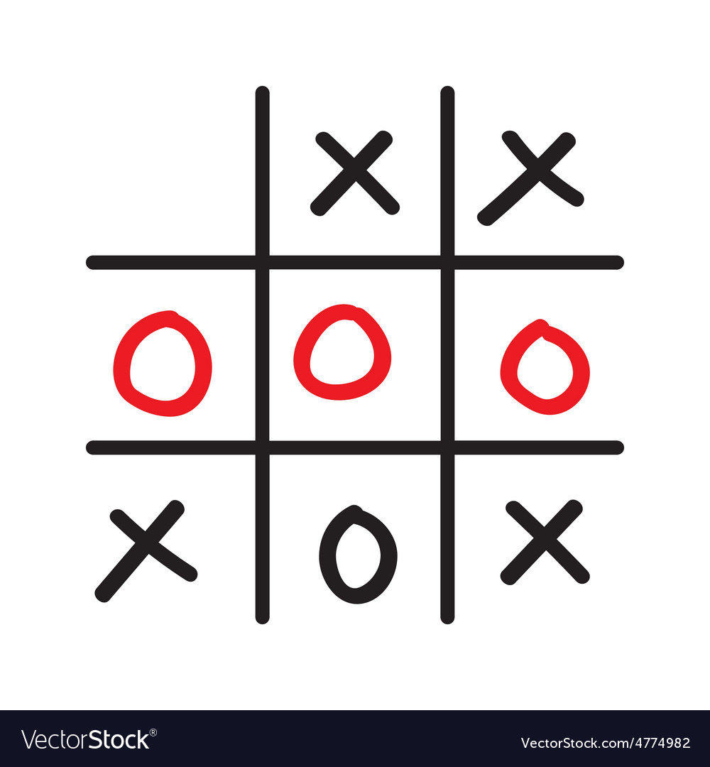 Doodle tic tac toe game vector   Price: 1 Credit (USD $1)