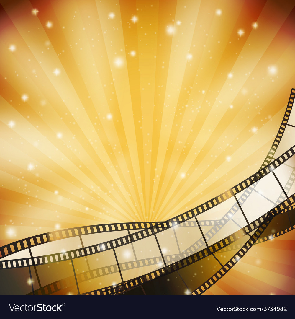 Film background retro vector