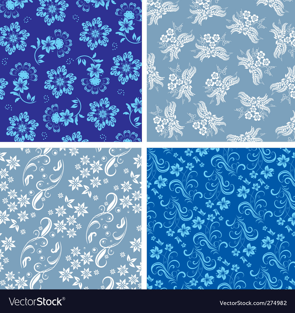 Floral background fabric vector | Price: 1 Credit (USD $1)