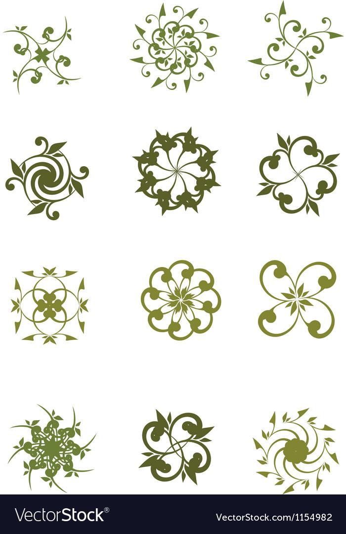 Floral symbol vector | Price: 1 Credit (USD $1)