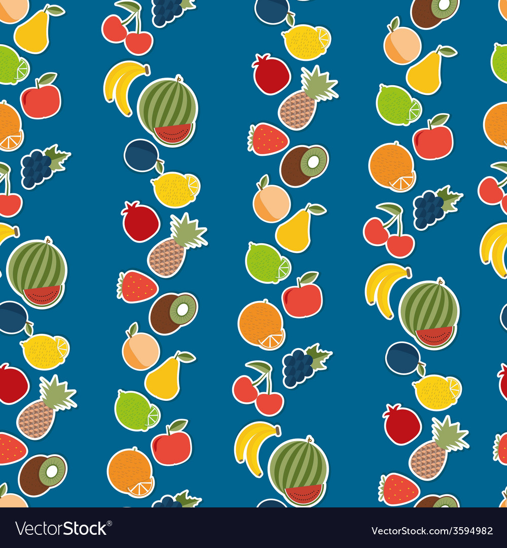 Fruit seamless pattern the image of fruits and vector | Price: 1 Credit (USD $1)