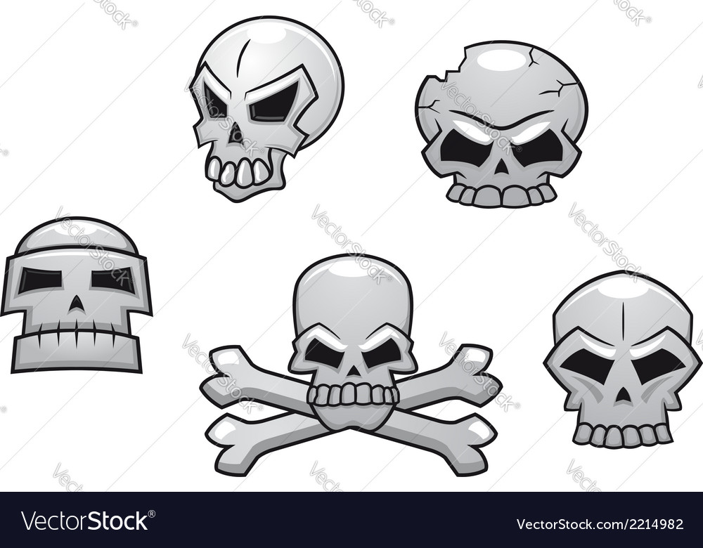 Halloween or pirate themed skull set vector | Price: 1 Credit (USD $1)