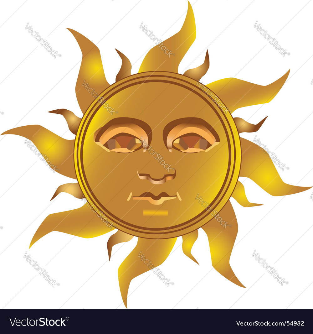 Mayan incan sun vector | Price: 1 Credit (USD $1)