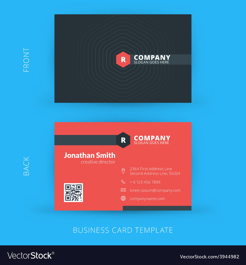 Modern creative and clean business card template vector | Price: 1 Credit (USD $1)