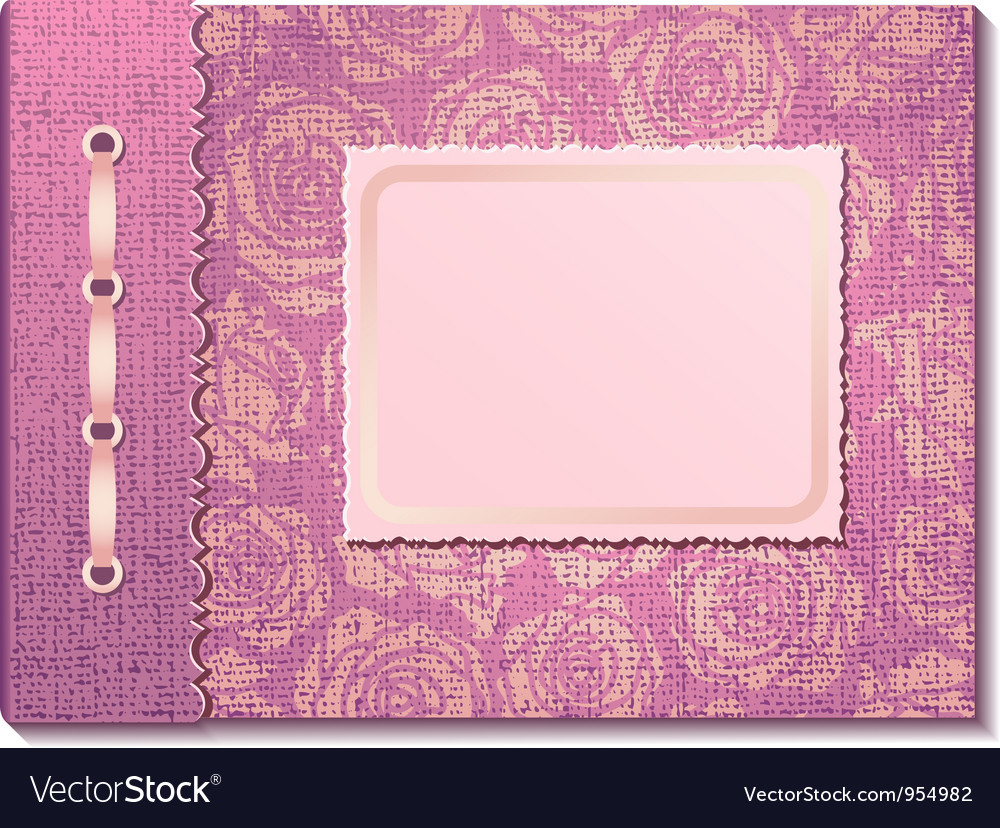 Pink fabric cover a photo album vector | Price: 1 Credit (USD $1)