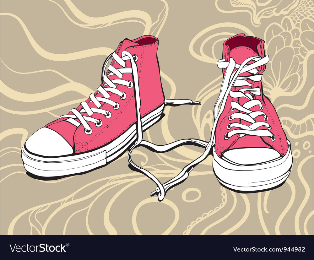 Pink sneakers vector | Price: 1 Credit (USD $1)