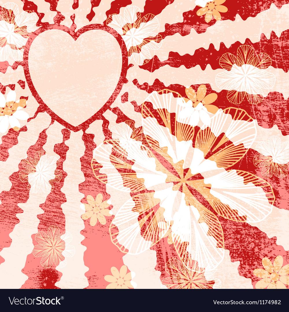 Red grunge valentine vector | Price: 1 Credit (USD $1)