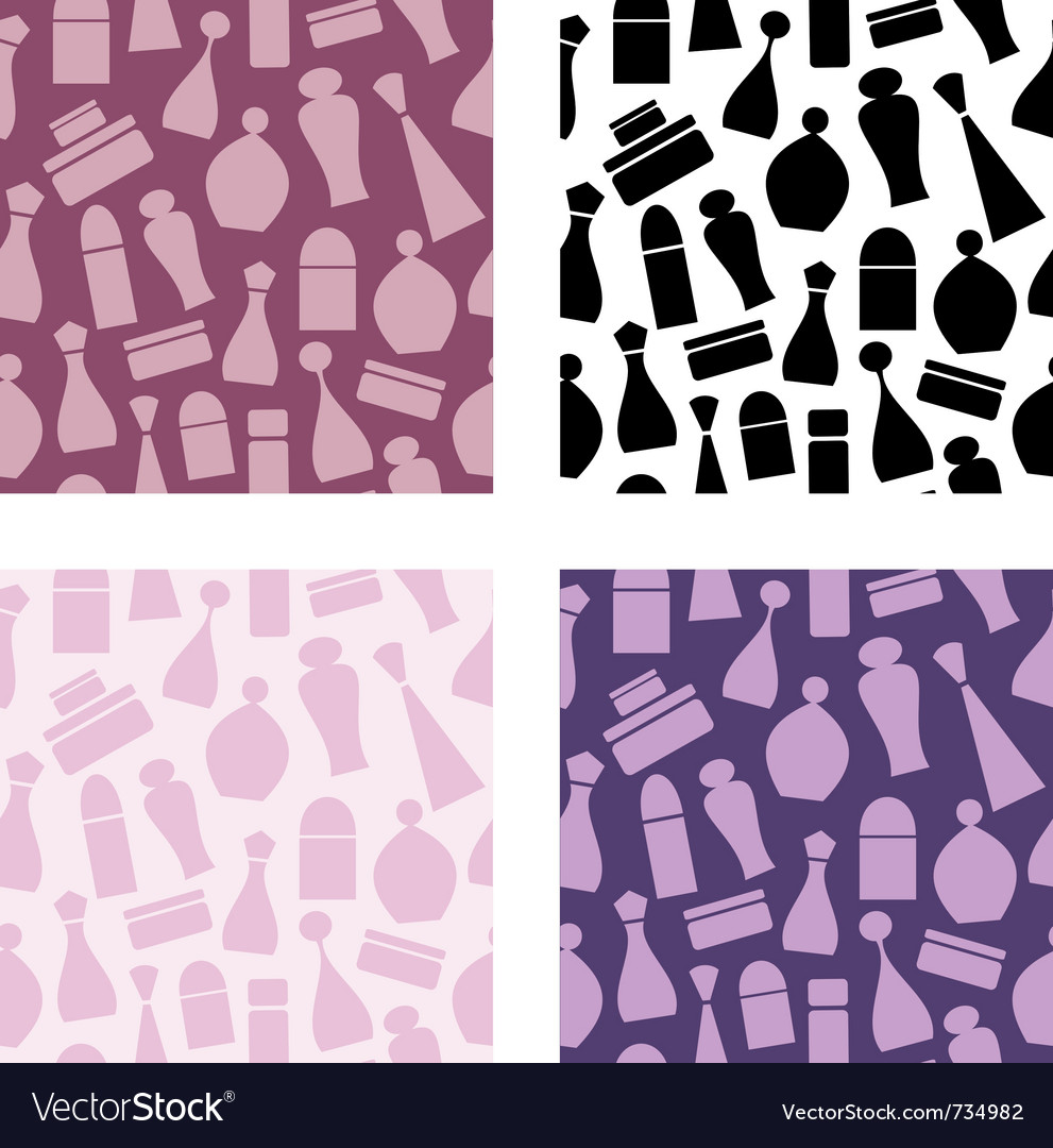 Seamless cosmetic pattern vector | Price: 1 Credit (USD $1)