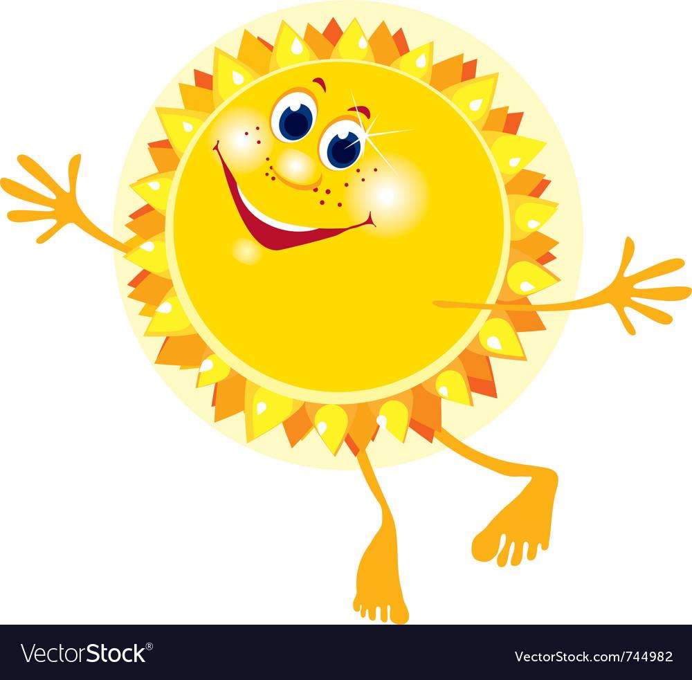 Sun face vector | Price: 1 Credit (USD $1)