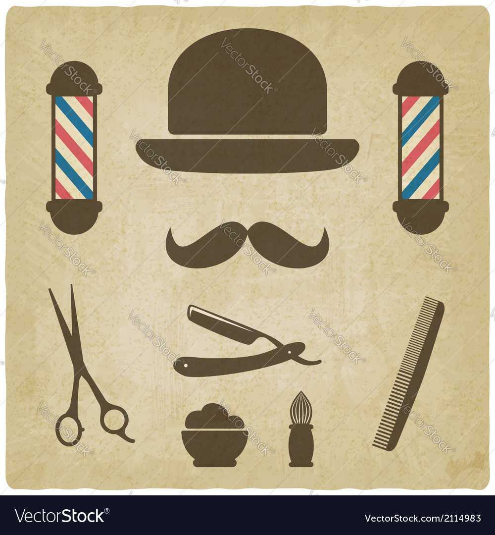 Barber old background vector | Price: 1 Credit (USD $1)