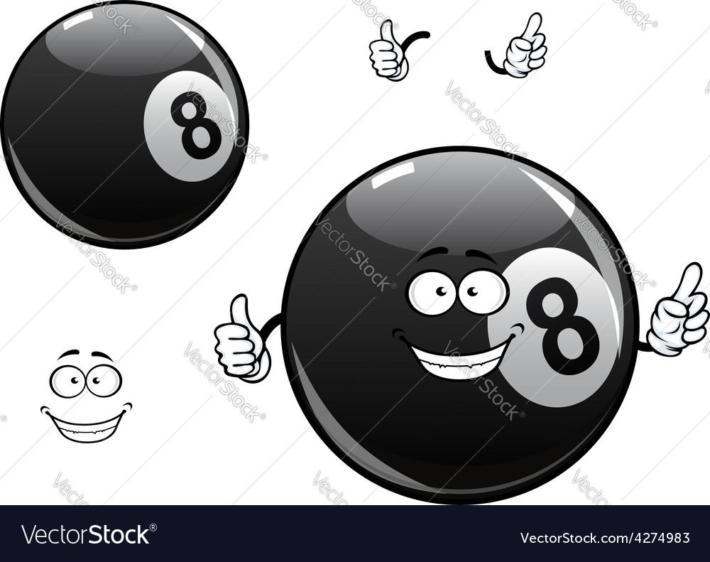 Cartoon billiards snooker pool eight ball vector | Price: 1 Credit (USD $1)