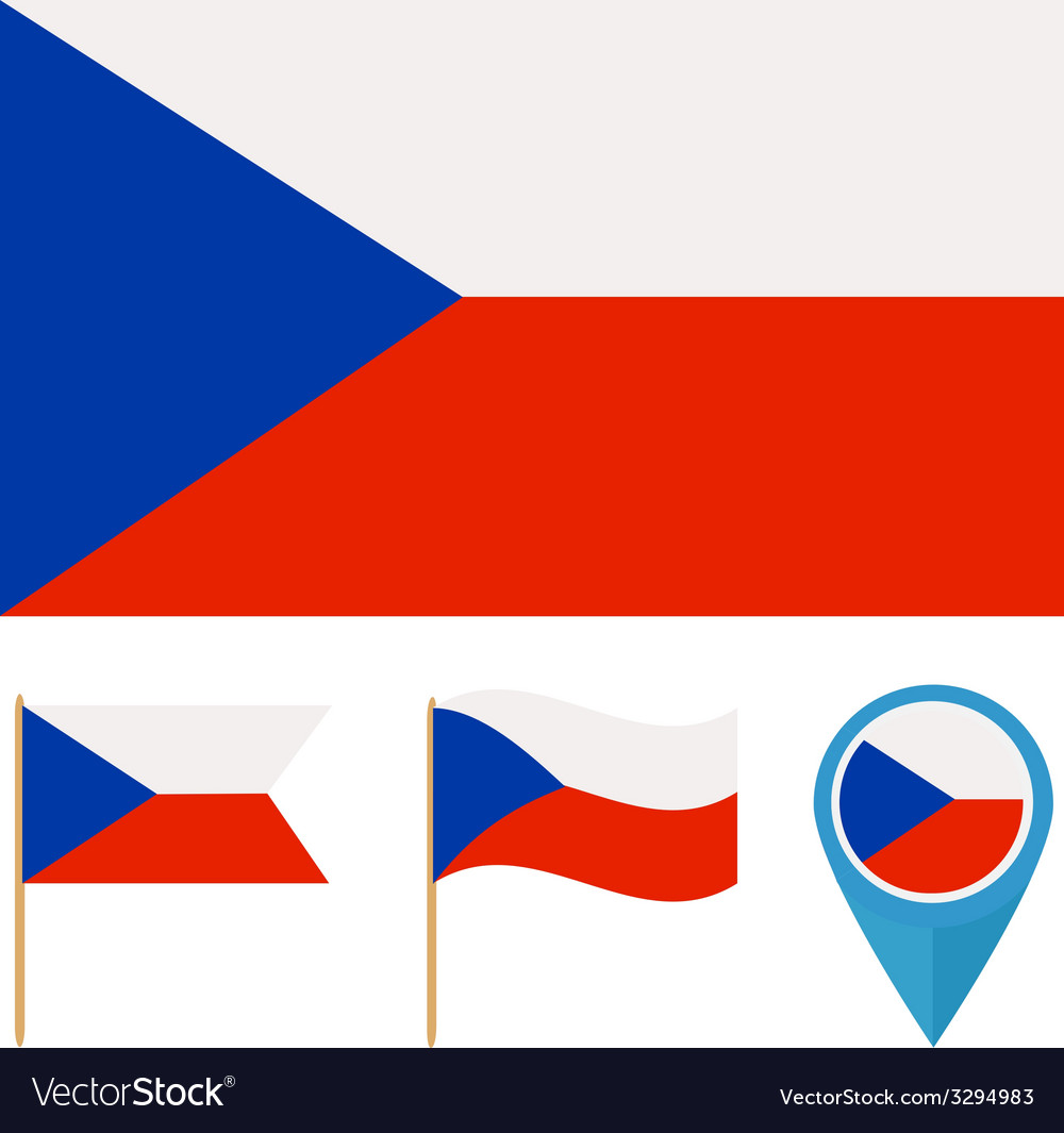 Czech republic country flag vector | Price: 1 Credit (USD $1)