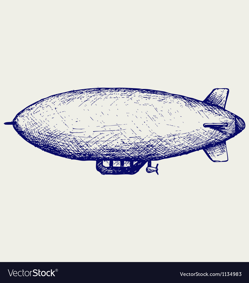 Dirigible vector | Price: 1 Credit (USD $1)