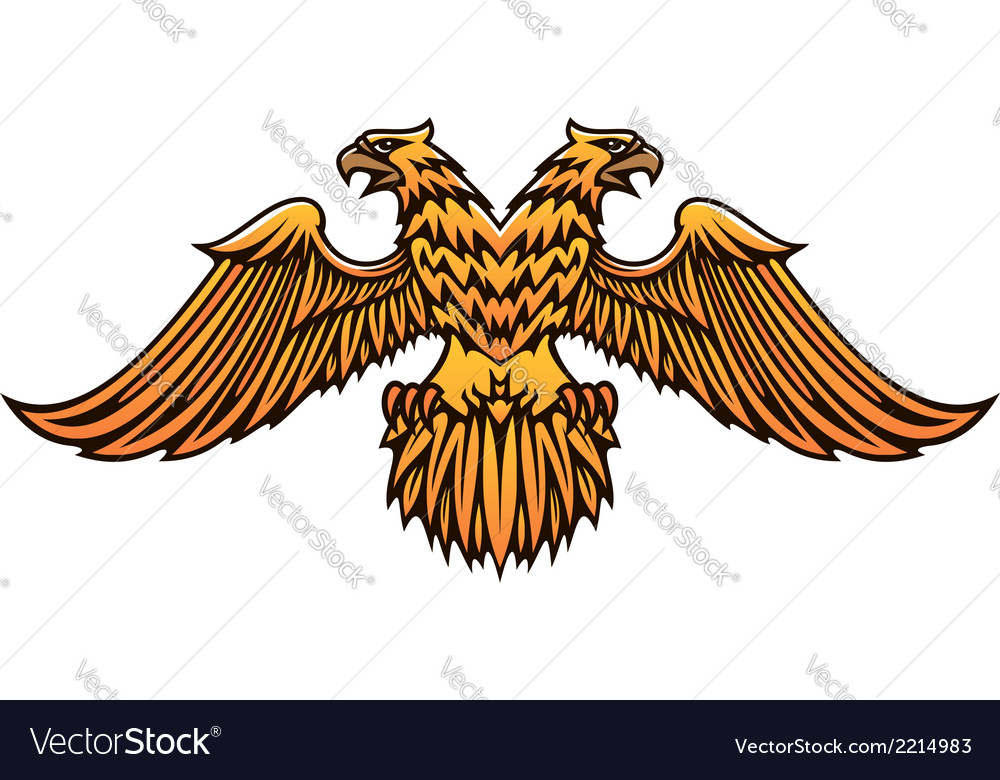 Double headed golden imperial eagle vector | Price: 1 Credit (USD $1)