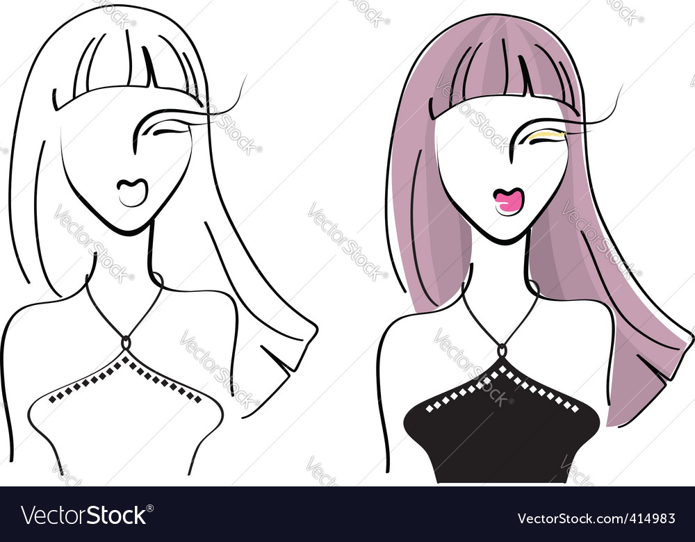 Face woman4 vector | Price: 1 Credit (USD $1)