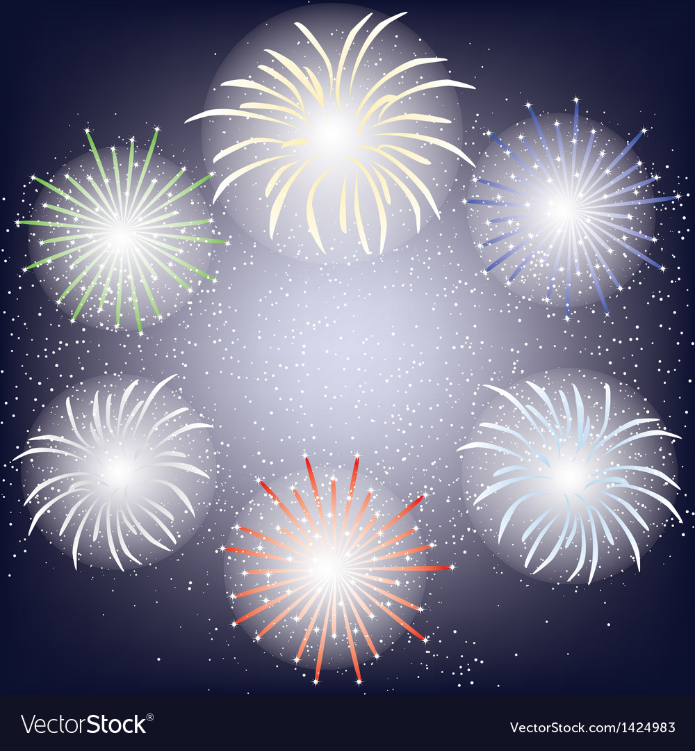 Fireworks frame vector   Price: 1 Credit (USD $1)