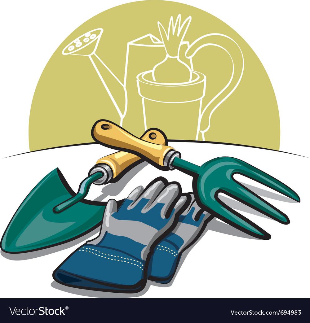 Gardening tools vector | Price: 3 Credit (USD $3)