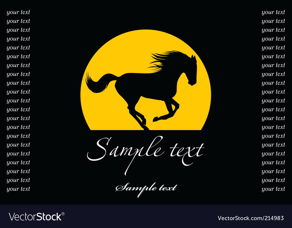 Horse silhouette template vector | Price: 1 Credit (USD $1)
