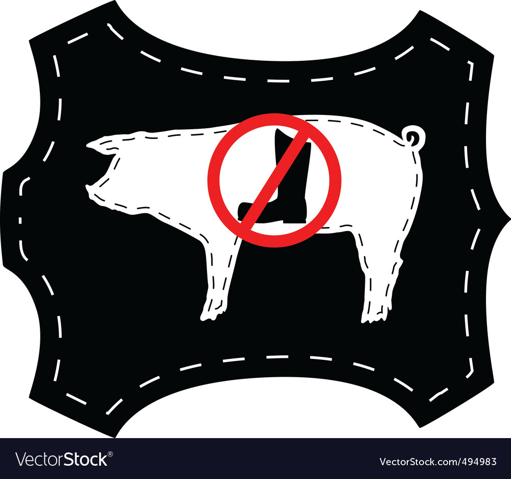 No pigskin boots vector | Price: 1 Credit (USD $1)