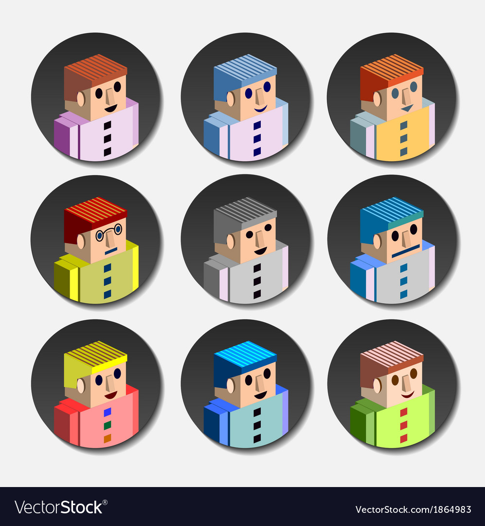 People avatar vector | Price: 1 Credit (USD $1)