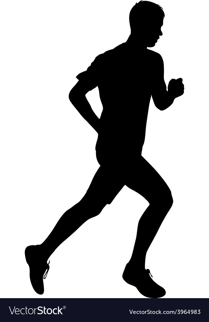 Running black silhouettes vector | Price: 1 Credit (USD $1)