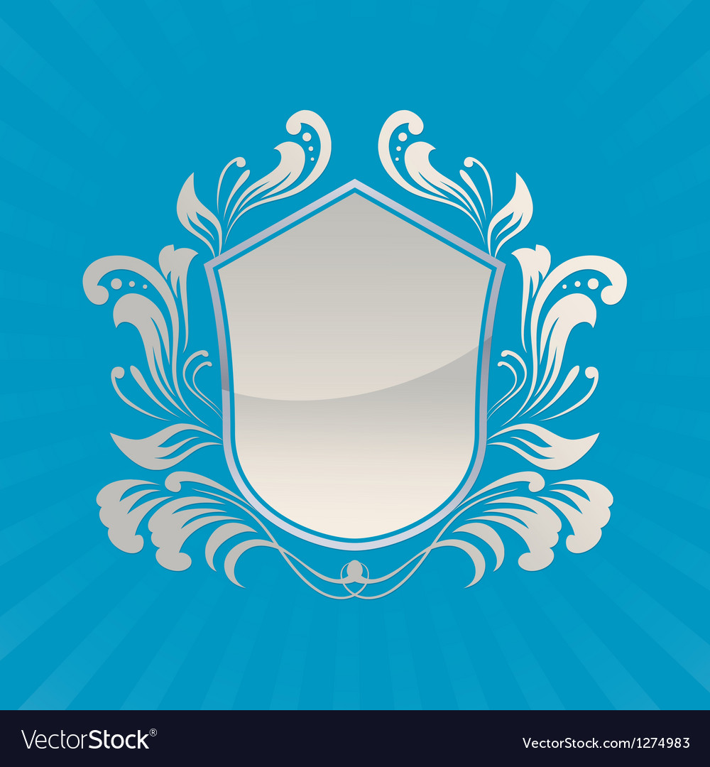 Shield ornament vector | Price: 1 Credit (USD $1)