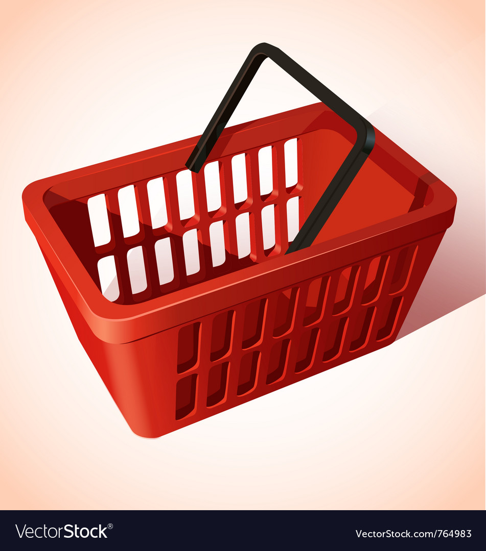 Shopping basket vector | Price: 3 Credit (USD $3)