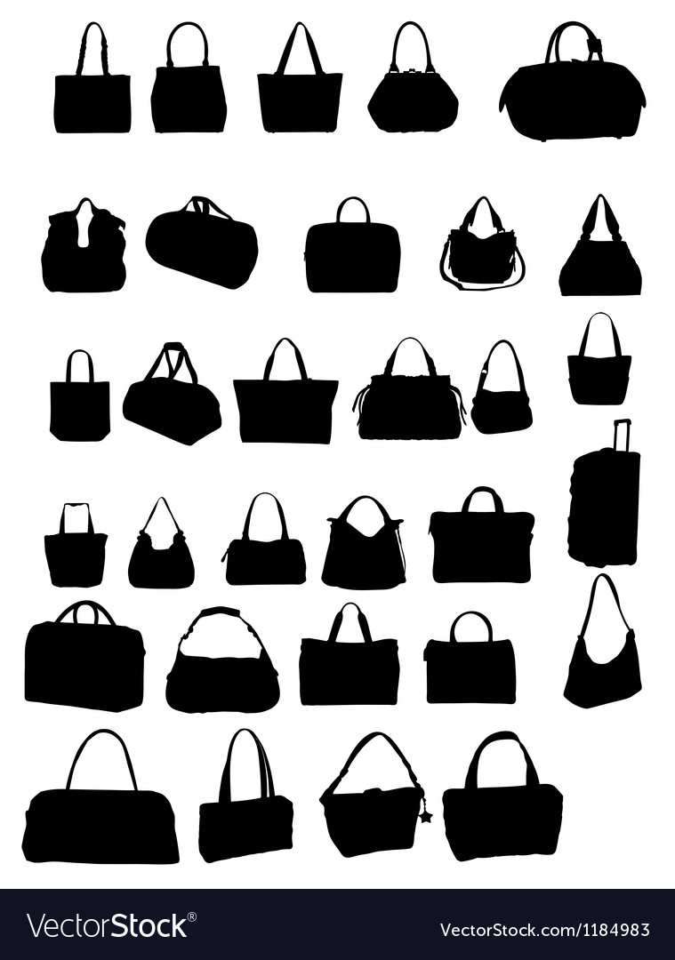 Silhouette bag vector | Price: 1 Credit (USD $1)