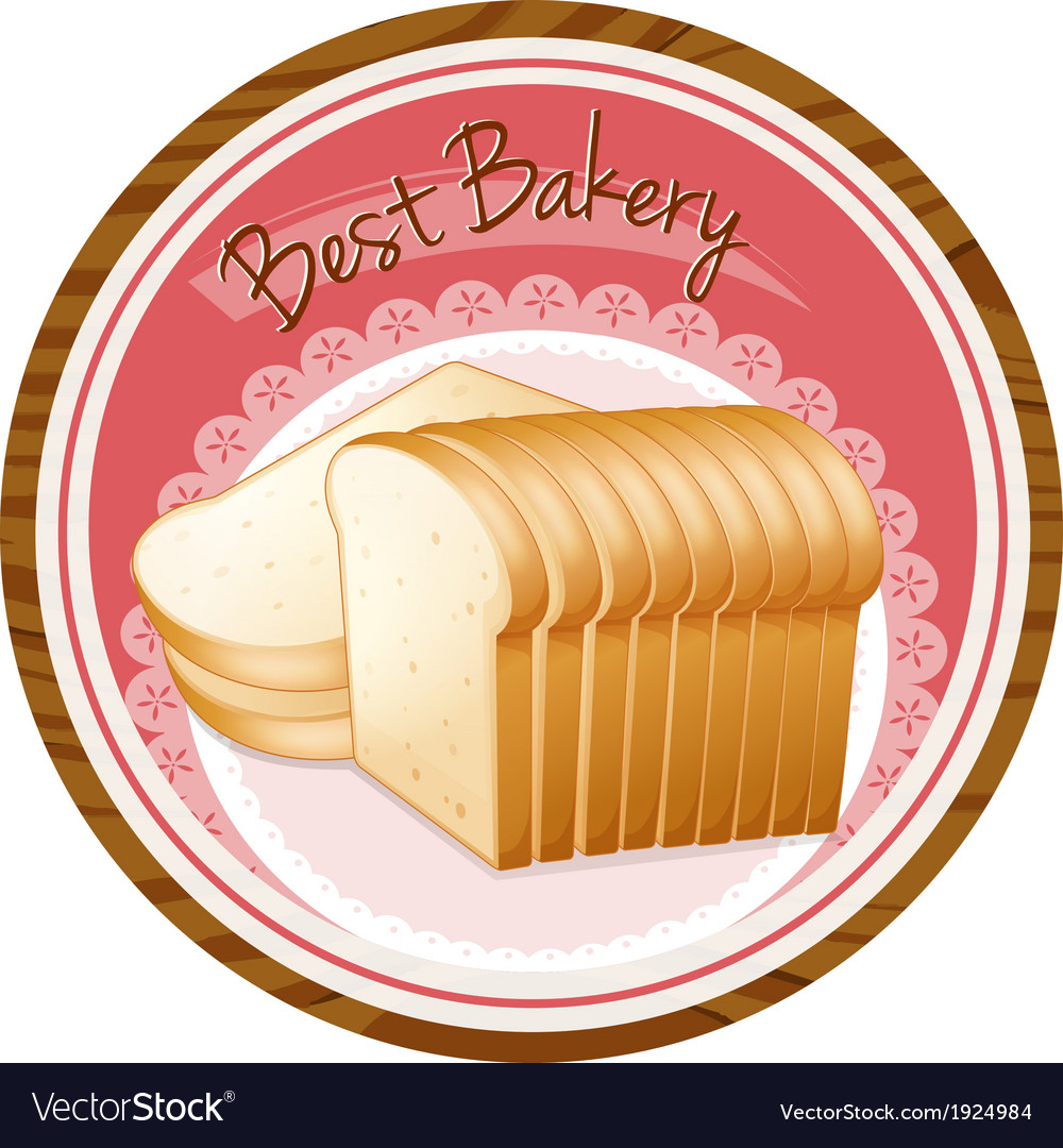 A best bakery label with a loaf of bread vector | Price: 1 Credit (USD $1)