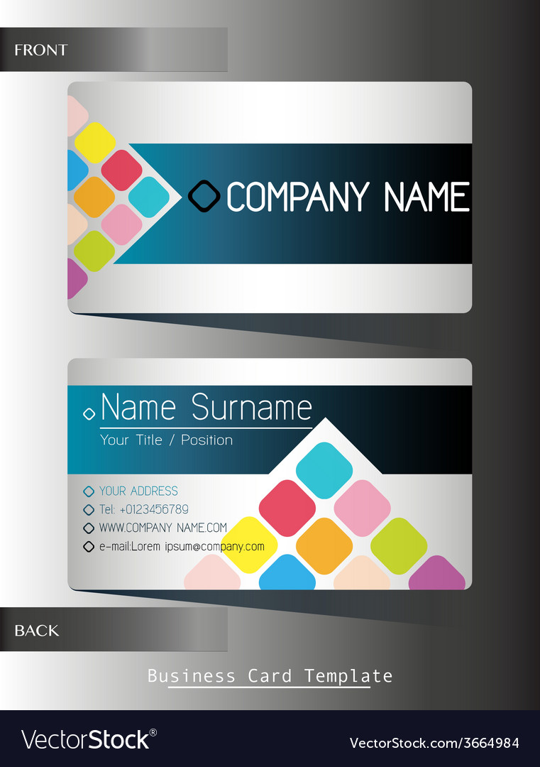 A front and back business card vector | Price: 1 Credit (USD $1)