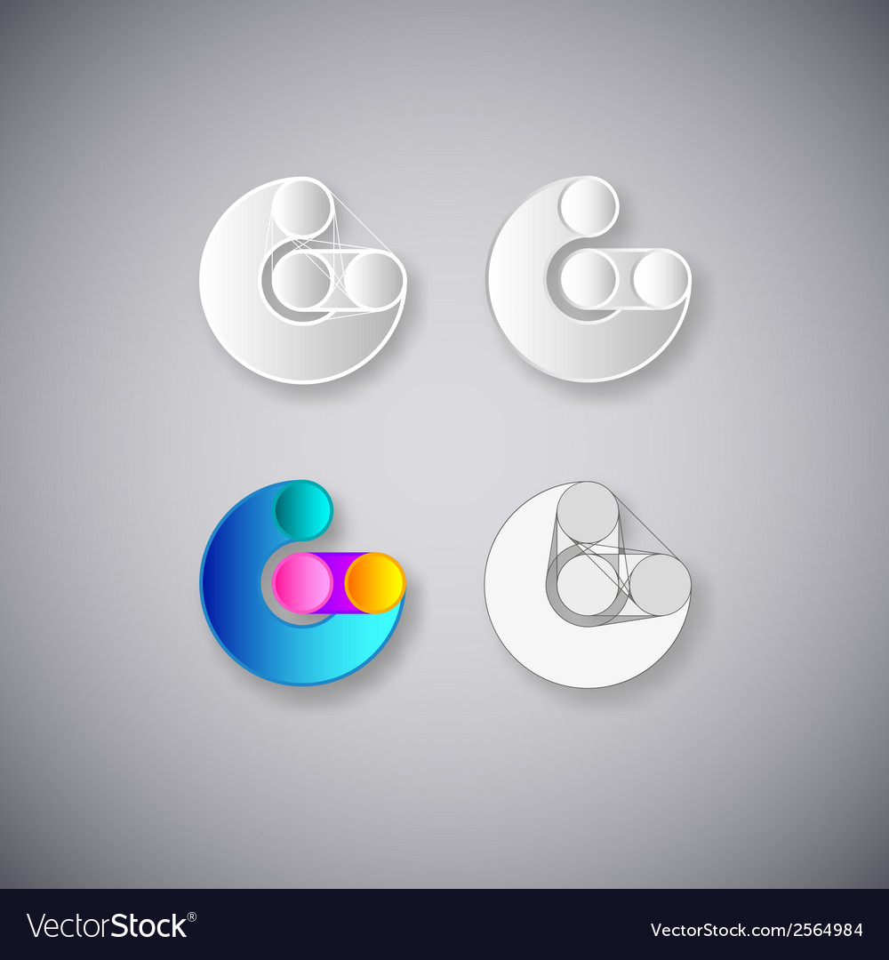 Abstract combination of letter g vector | Price: 1 Credit (USD $1)
