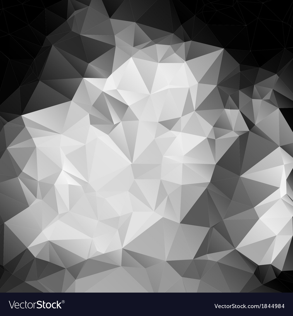 Black and white abstract background polygon vector | Price: 1 Credit (USD $1)