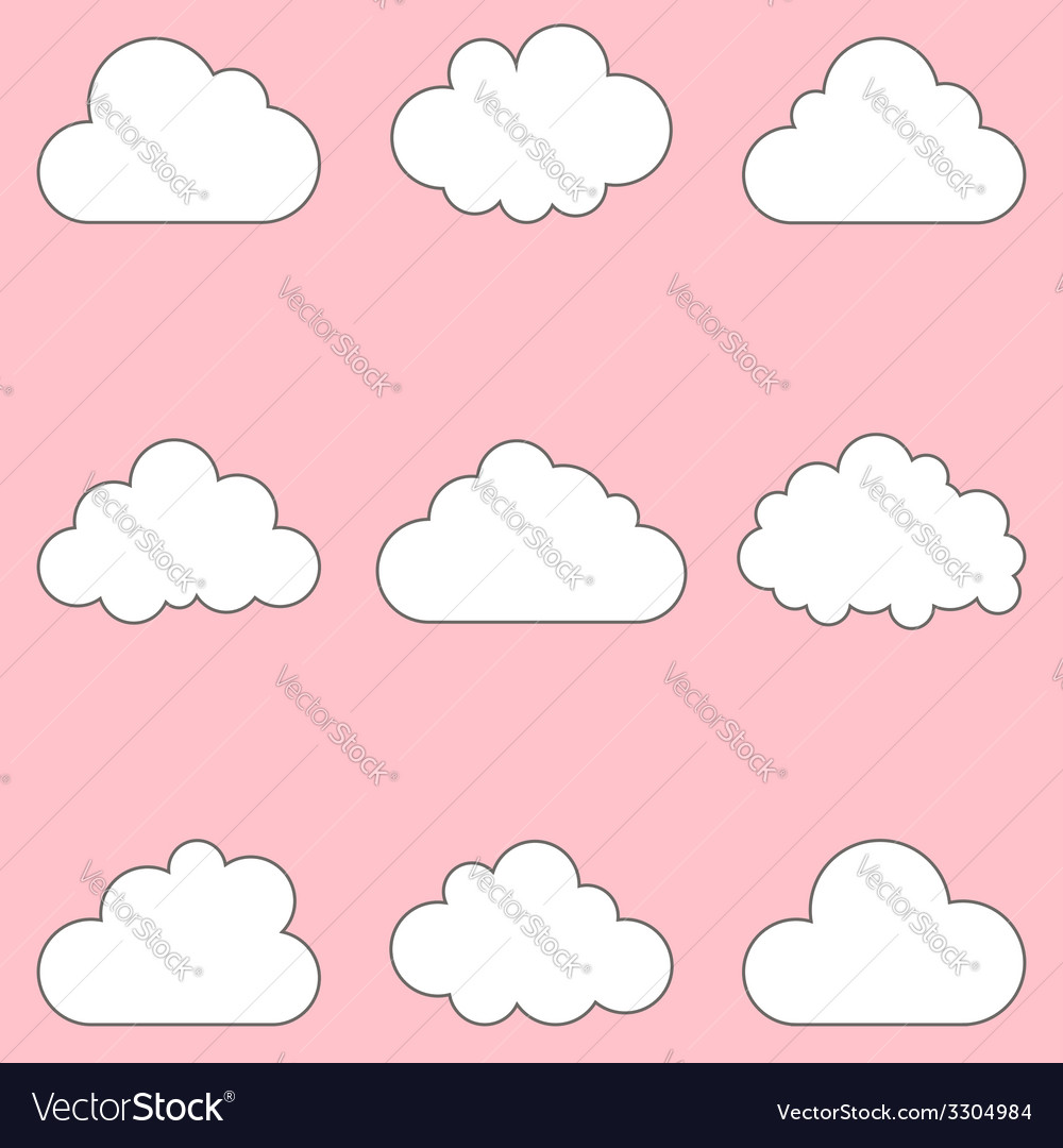 Clouds set icons for cloud computing for app and vector | Price: 1 Credit (USD $1)