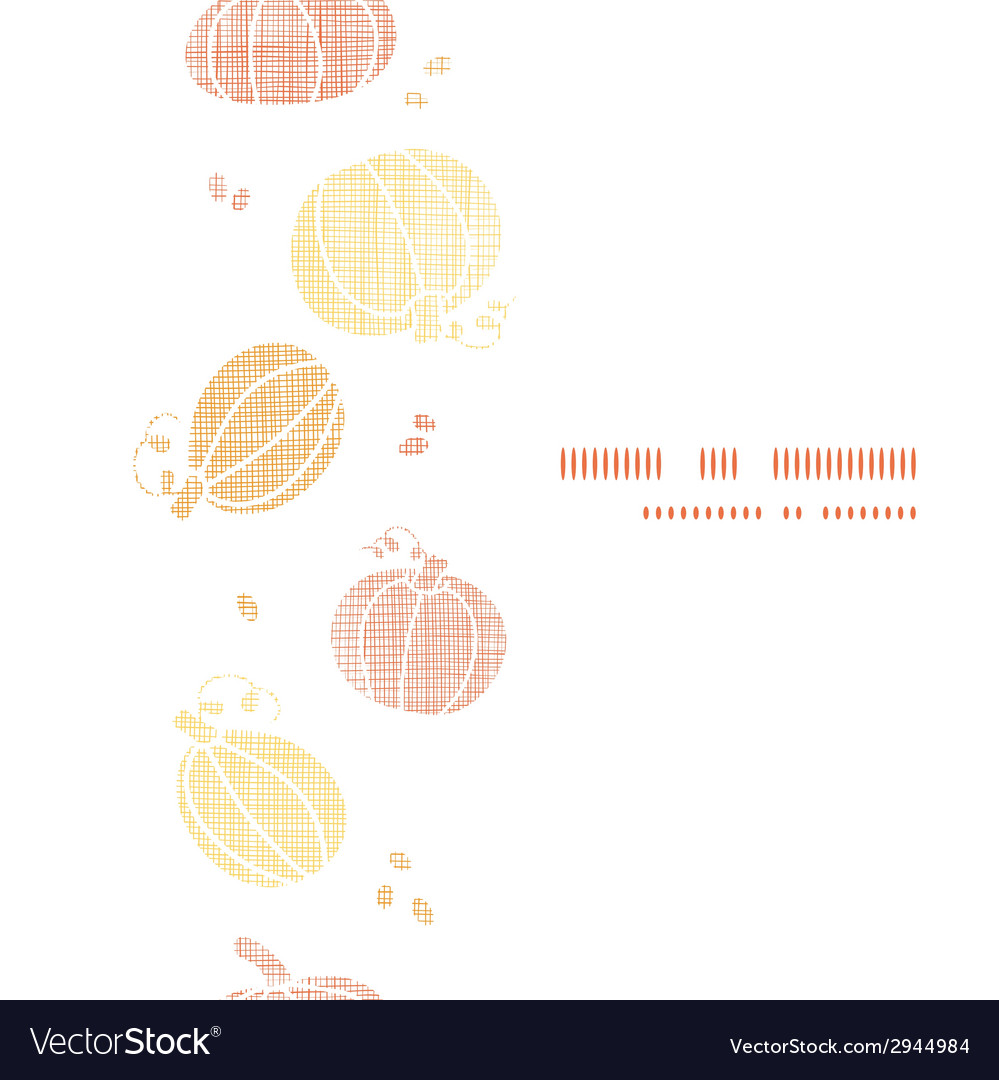 Thanksgiving pumpkins textile vertical border vector | Price: 1 Credit (USD $1)