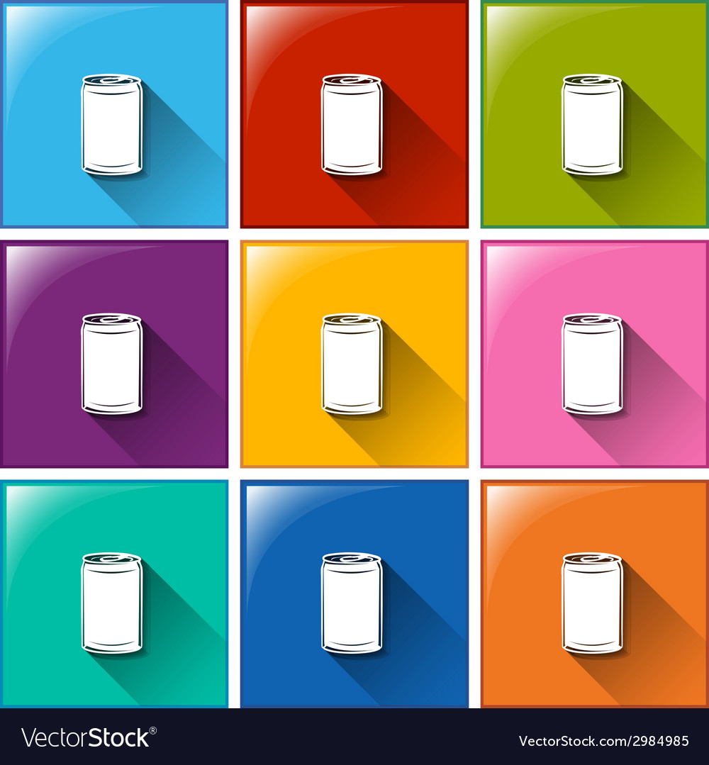 Buttons with canned drinks vector | Price: 1 Credit (USD $1)