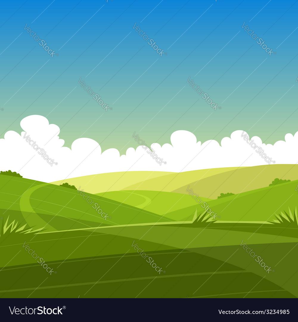 Cartoon summer landscape vector | Price: 1 Credit (USD $1)