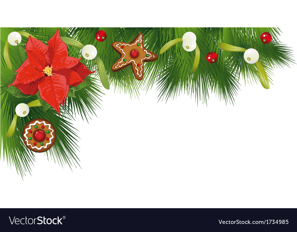 Christmas border fir vector | Price: 1 Credit (USD $1)